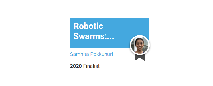 "Carl Sandburg Student Needs Community's Help: Vote for Samhita Pokkunuri for ""Improving Lives Award"" in 3M Young Scientist Contest"